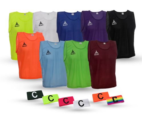 TRAINING BIBS & CAPTAIN´S BAND from SELECT