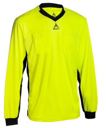Referee shirt L/S v21 - yellow/black